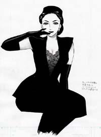 古いハリウッド女優の写真